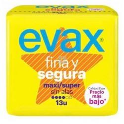 EVAX COMPRESAS FINA Y SEGURA MAXI/SUPER SIN ALAS 13 UNIDADES