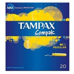 Tampax Compak Regular 100% Algodon 22 uds