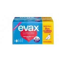EVAX CONTTONLIKE COMPRESAS NORMAL PLUS CON ALAS 28 UNIDADES