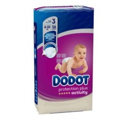 Dodot Activity Protection Plus Talla 3 (6 - 10 Kg) 56 uds