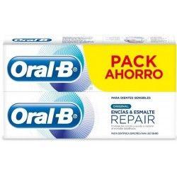 Oral B Duplo Pasta Dental Blanqueante Encias y Esmalte 2 x 100 ml