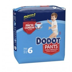 DODOT PANTS MAINLINE CARRY PACK TALLA 6 27 UNIDADES