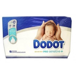 DODOT PRO SENSITIVE T 0 MENOR DE 3 KG 38 UNIDADES