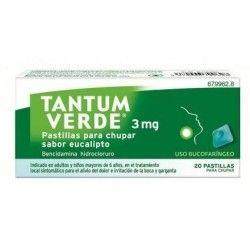 Tantum Verde 3 mg 20 Pastillas para Chupar Eucalipto