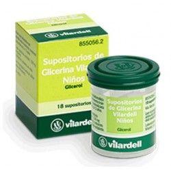 Supositorios Glicerina Vilardell Infantil 1.58 gr 18 Supositorios