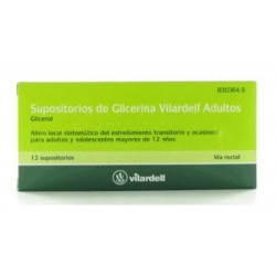 Supositorios Glicerina Vilardell Adultos 12 Supositorios (Blister)