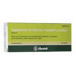 Supositorios Glicerina Vilardell Lactantes 0.92 gr 6 Supositorios (Blister)