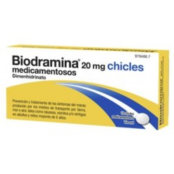 BIODRAMINA 20 MG 12 CHICLES