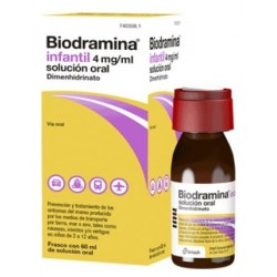 BIODRAMINA INFANTIL 4 MG/ML SOLUCION ORAL 60 ML