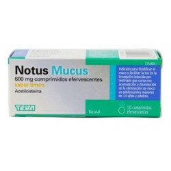 NOTUS MUCUS 600 MG 10 COMPRIMIDOS EFERVESCENTES SABOR LIMON
