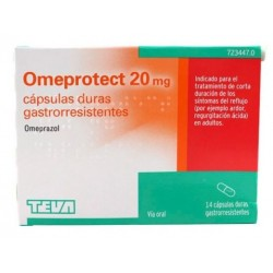 OMEPROTECT 20 MG 14 CAPSULAS GASTRORRESISTENTES (BLISTER)