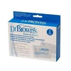 Dr. Brown´S Bolsa Esterilizacion A Vapor Microondas 5 Bolsas