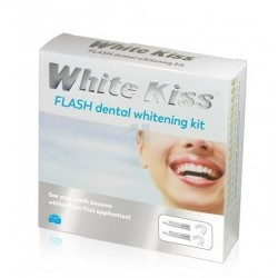 White Kiss Flash Completo Blanqueamiento Dental 6 ml 2 Tubos