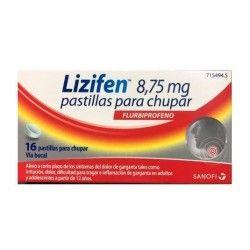 Lizifen 8.75 mg 16 Pastillas para Chupar Menta