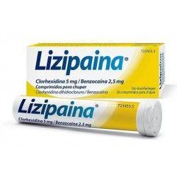 Lizipaina Clorhexidina/Benzocaina 5/2.5 mg 20 Comprimidos para Chupar (Tubo)