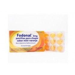 Fodonal 3 mg 24 Pastillas para Chupar Miel Naranja