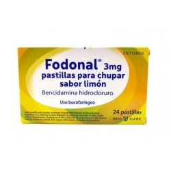 Fodonal 3 mg 24 Pastillas para Chupar Limon