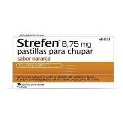 Strefen 8.75 mg 16 Pastillas para Chupar Naranja