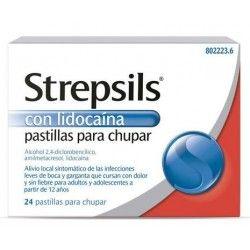 STREPSILS CON LIDOCAINA 24 PASTILLAS PARA CHUPAR