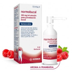 Normobucal 200 mg/ml Aerosol Bucal Solucion 5 ml