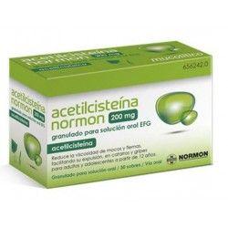 ACETILCISTEINA NORMON EFG 200 MG 30 SOBRES GRANULADO SOLUCION ORAL