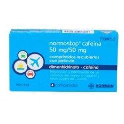 NORMOSTOP CAFEINA 50/50 MG 4 COMPRIMIDOS (BLISTER AL/PA-AL-PVC)