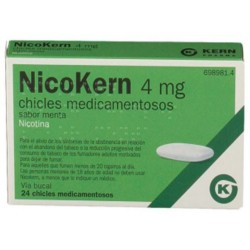 NICOKERN 4 MG 24 CHICLES SABOR MENTA