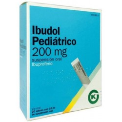 IBUDOL PEDIATRICO 200 MG 20 SOBRES SUSPENSION ORAL 10 ML