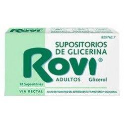 Supositorios Glicerina Rovi Adultos 3.36 gr 12 Supositorios