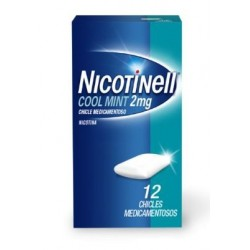 NICOTINELL COOL MINT 2 MG 12 CHICLES MEDICAMENTOSOS