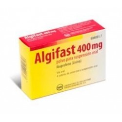 ALGIFAST 400 MG 4 SOBRES POLVO SUSPENSION ORAL