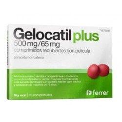 Gelocatil Plus 500/65 mg 20 Comprimidos Recubiertos