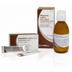 MAGNESIA LAINCO 200 MG/ML SUSPENSION ORAL 220 ML