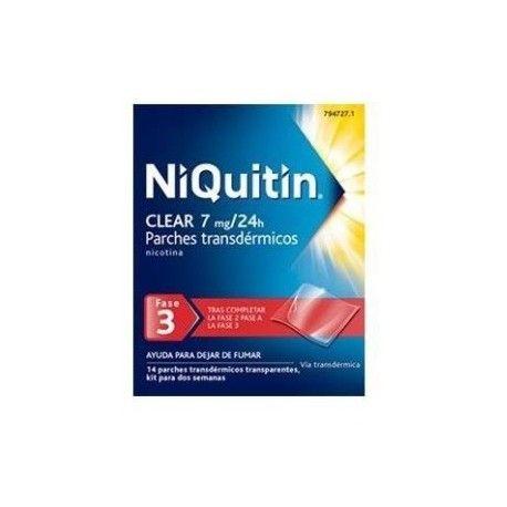 Niquitin Clear 7 mg/24 H 14 Parches Transdermicos 36 mg