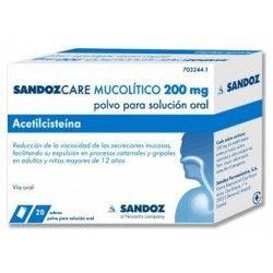 SANDOZCARE MUCOLITICO EFG 200 MG 20 SOBRES POLVO SOLUCION ORAL