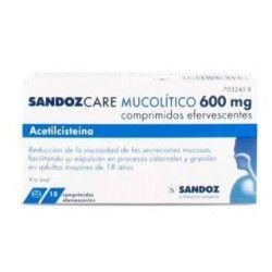 SANDOZCARE MUCOLITICO EFG 600 MG 10 COMPRIMIDOS EFERVESCENTES