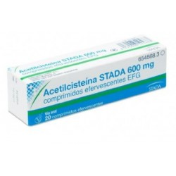 ACETILCISTEINA STADA EFG 600 MG 20 COMPRIMIDOS EFERVESCENTES (TUBO)