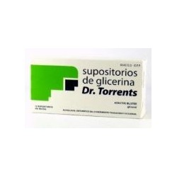 SUPOSITORIOS GLICERINA DR TORRENTS ADULTOS 3.27 G 12 SUPOSITORIOS (BLISTER)