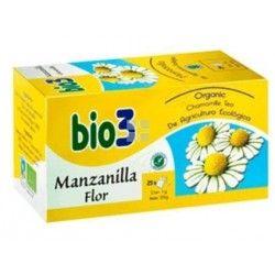 Bio 3 Manzanilla Ecologica Flor 25 Bolsitas