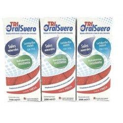 Tri-Oralsuero Fresa 3 uds x 200 ml