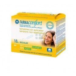 Farmaconfort Tampones Algodon Regular Sin Aplicador 18 uds