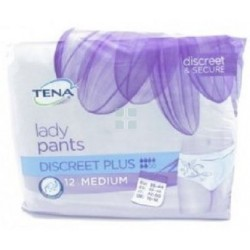 TENA LADY PANTS DISCREET TALLA M 12 UNIDADES