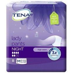 TENA LADY PANTS NOCHE TALLA M 8 UNIDADES