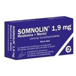 SOMNOLIN MELATONINA + MENTOL 1.9 MG 30 LAMINAS BUCODISPERSABLES