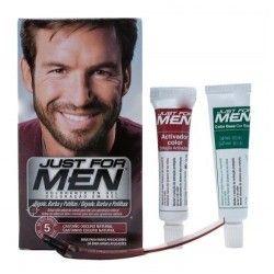 Just For Men Gel Colorante Bigote y Barba Tono Castaño Oscuro 30 ml