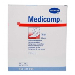 Medicomp Non - Woven Gasa Esteril 10 x 10 m 50 uds