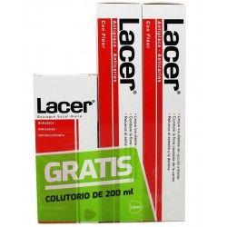 Duplo Pasta Lacer 125 ml + 125 ml + Colutorio 200 ml gratis