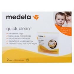MEDELA QUICK CLEAN BOLSAS PARA MICROONDAS REUTILIZABLES 0% BPA 5 UNIDADES
