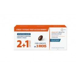 Anacápsulas Reactiv Cabello y Uñas Ducray 30 cápsulas 3 Cajas