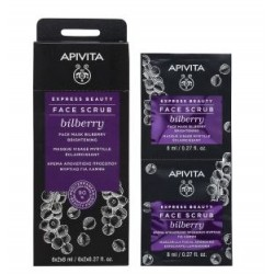 Apivita Express Beauty Face Scrub Bilberry 2 x 8 ml